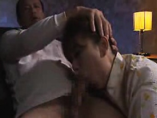 Sexy Japanese wife deepthroats a soreness learn of together with gets banged