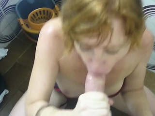 Mamada Restroom Blowjob and Cosmetic Cum in the air Bathroom - Part