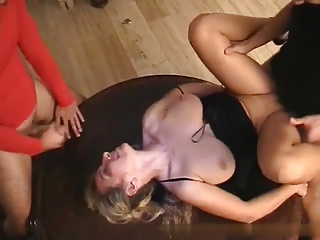 Private Gangbang with Gaffer MILF at Home