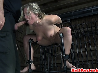 Shackled bdsm sub dominated apart from this maledom