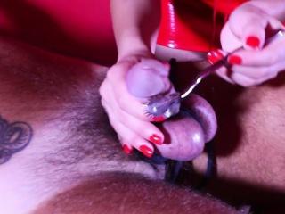 Hot mistress bdsm with cumshot