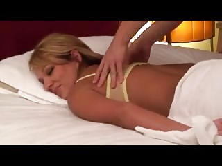 Blonde rub-down (censored)