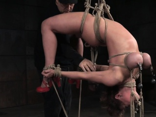 Prex milf distressful about a suspended hogtie