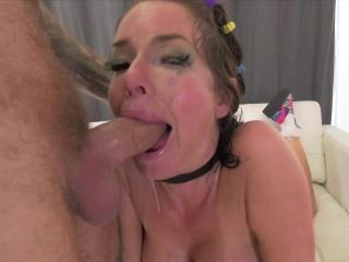 Pornstar schoolgirl gets hard anal bonking