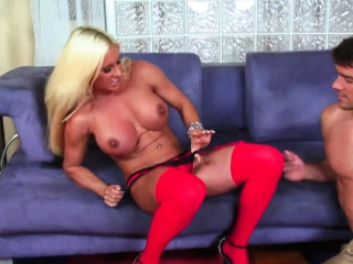 Busty milf in chunky clit