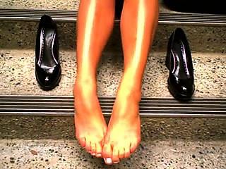 Remarkable lady, appetizing feet 2