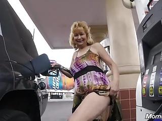 Slutty Grey Granny takes Young Flannel POV Hotel Fuck.