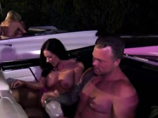 Hot swingers fucking inside the auto dimension heeding a video