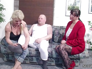 German Husband Get Roguish Triad by Wife plus her Friend