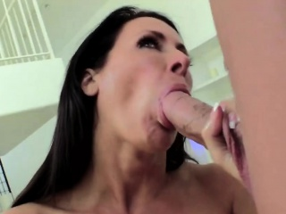 Step son gets obese cock sucked by busty milf