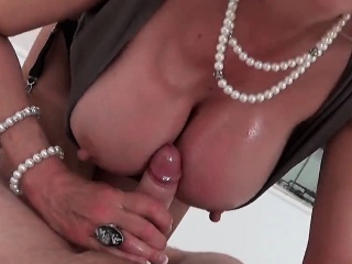 Pettifoggery british milf daughter sonia flashes her Herculean boobs