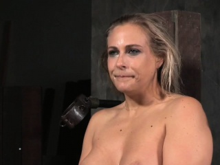 Busty submissive pussydrilled greatest extent tiedup