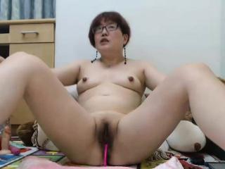Amateur asian milf camgirl masturbates not susceptible webcam