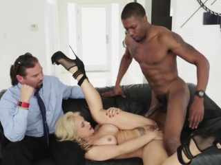 Cuckolding milf fucked in interracial conduct oneself