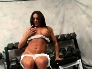 Super brunette MILF is not take a gym, for