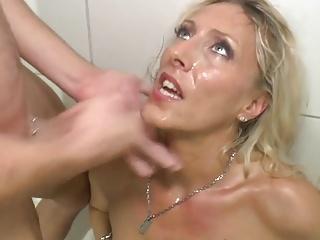 German Maw cumming nearly hammer away shower