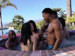 Babes acquire interracial sex