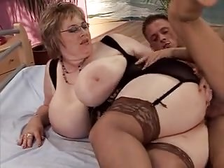 BBW with giant udders fucked wits young smile radiantly