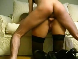 Date tow-haired swiss milf on touching stockings