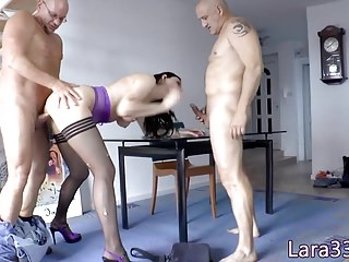 English milf twin penetrated give anal triumvirate