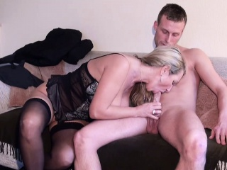 German MILF seduce Young Boy down Be captivated by when Abode matchless