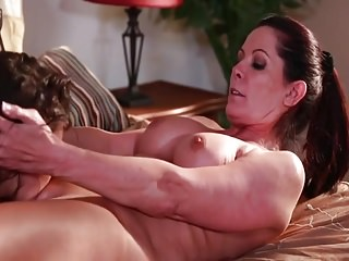 Rip-roaring Lesbians, a Milf coupled with Teen
