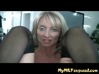 My MILF Unclad Hot fit together in disgraceful stockings botheration fingered