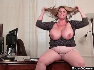 American moms in pantyhose part 4