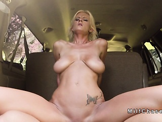 Busty Milf minivan purchaser bangs fat blarney