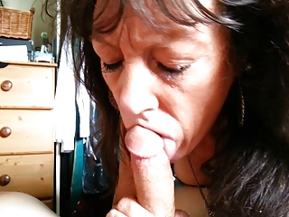 mature friend's enthusiastic blowjob