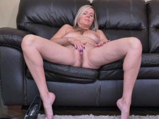 Canadian milf Dani Dare teases us in nylon
