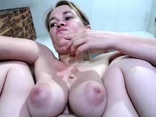 Big Russian gut on webcam