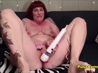 Mature Redhead Floosie With Chunky Tits Squirt From Toying Pussy