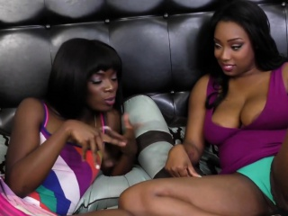 Fine ass black sluts share experimental hot lesbian bit