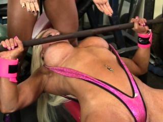Female Muscle Lesbians Love Obese Tits