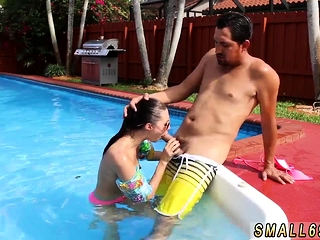 Six inch blowjob with an increment of blonde innocent big tit hd Swimming To S