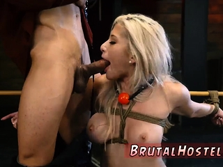 Heedfulness vibrator bondage and unconcealed Big-breasted platinum-blond