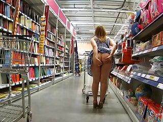 Miasmic flashing shopping all over butt advertising
