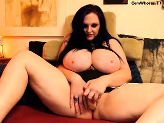 Huge bbw toys will not hear of obese cunt