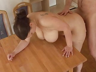 busty german wife gets fucked primarily table