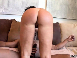 Big fake boobs Milf rides fat black horseshit