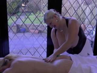 Granny masseuse toys increased by eats out of doors tribade