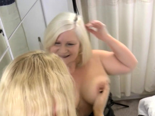 Homoerotic gran Lacey Starr gets pussy eaten