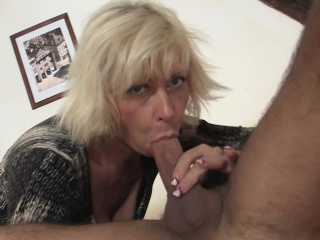 Girlfriends hot tow-haired mom gets fucked from backside