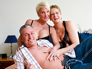 AmateurEuro - Granny 3Some Sexual relations with Hot Nympho GILFs