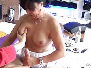 Frying German Mature Pretend Mama Coax Lady to Fuck say no to Anal