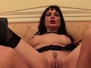 French Son takes anal roughly stockings