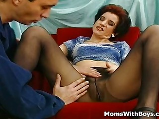 Horny Old Mama Fucked In Pantyhose Possessions Be transferred to bracken Grown-up Congregation Fucked By Younger Neighbor