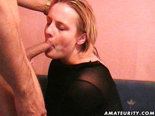 Chubby amateur girlf fucks with facial shot