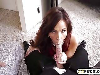 Busty milf Syren Demer fucked real approving unconnected with say no to son here law